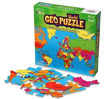 Fun Geography Puzzles - KidTrail Find