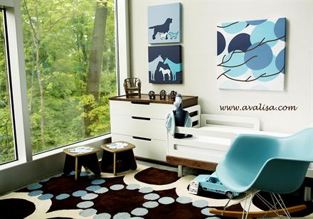 Colorful Wall Art and Rugs - KidTrail Pick