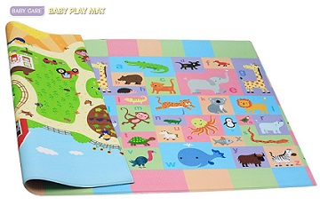 Cushioned Play Mat by Baby Care - KidTrail Cool Find