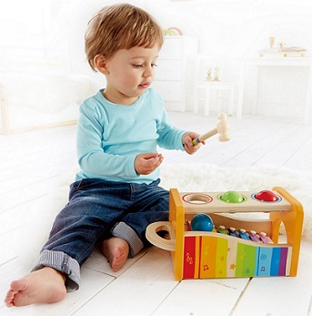 Hape Pound & Tap Bench with Xylophone - KidTrail Cool Find