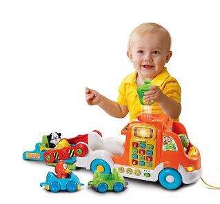 VTech Pull and Learn Car Carrier Pull Toy - KidTrail Cool Find